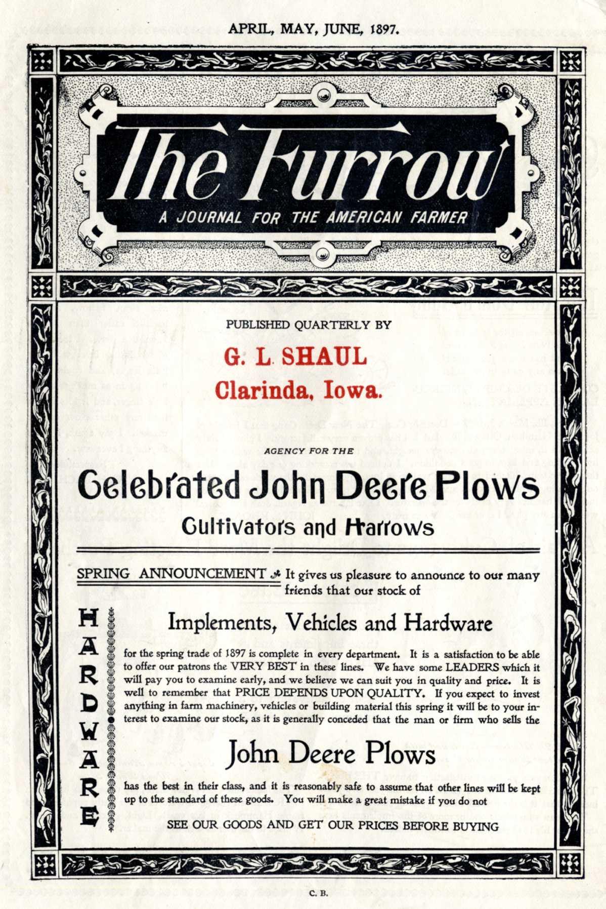 "John Deere's work ""The Furrow""(1895)"