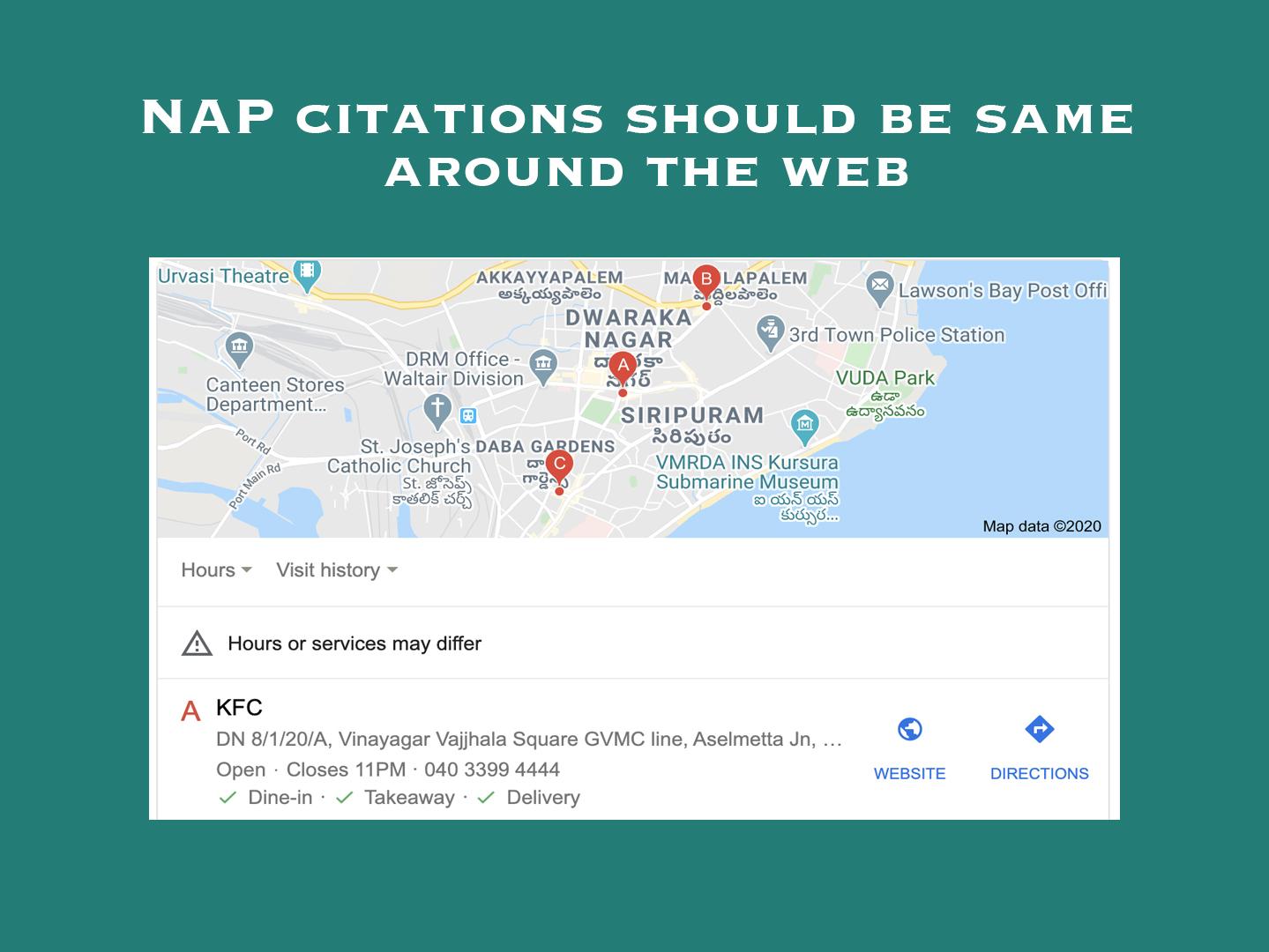 Nap Citations Should be same