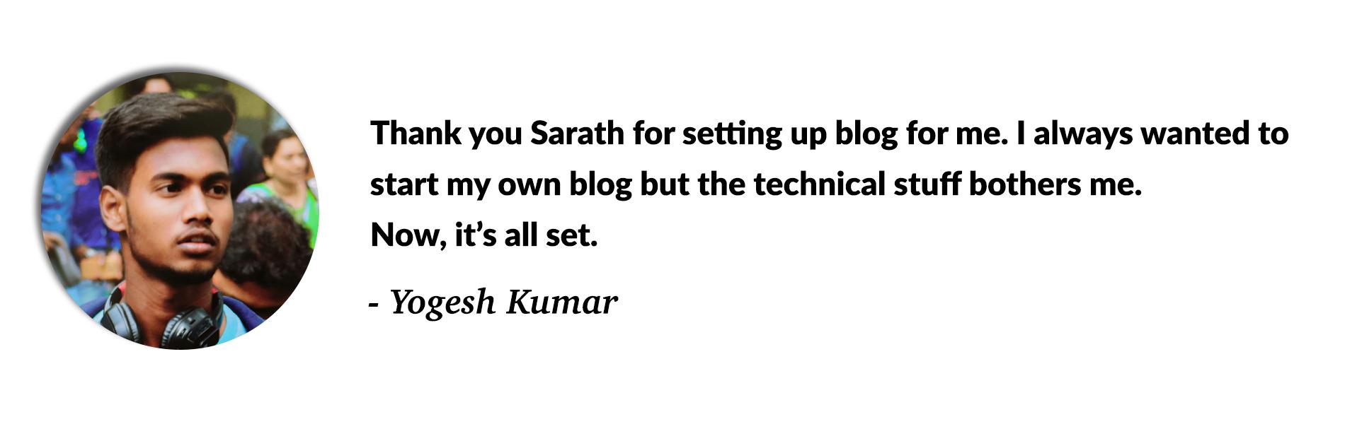 Free Blog Setup Review - Rajesh Ladi